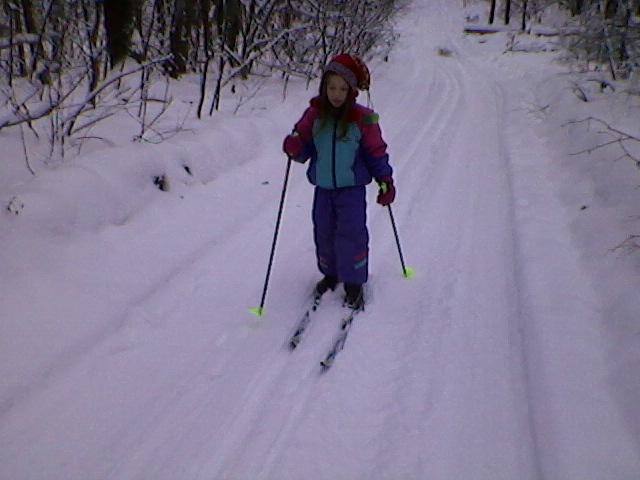 Первая лыжня. Моя тренировка
