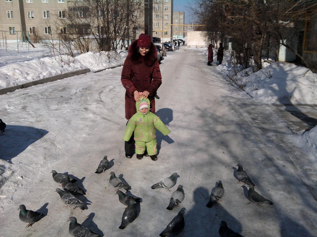 Прогулка с мамой. С мамой на прогулке
