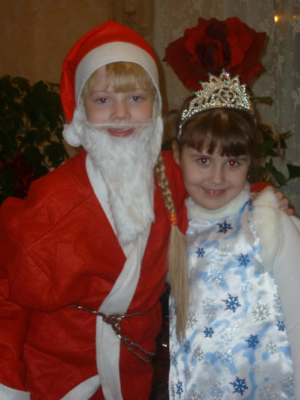 Снегурка и Дед Мороз с косичкой. Новогодний карнавал