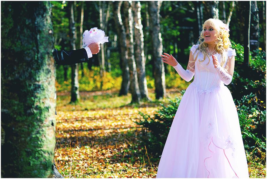Напуганная невеста:). Лучшее свадебное фото