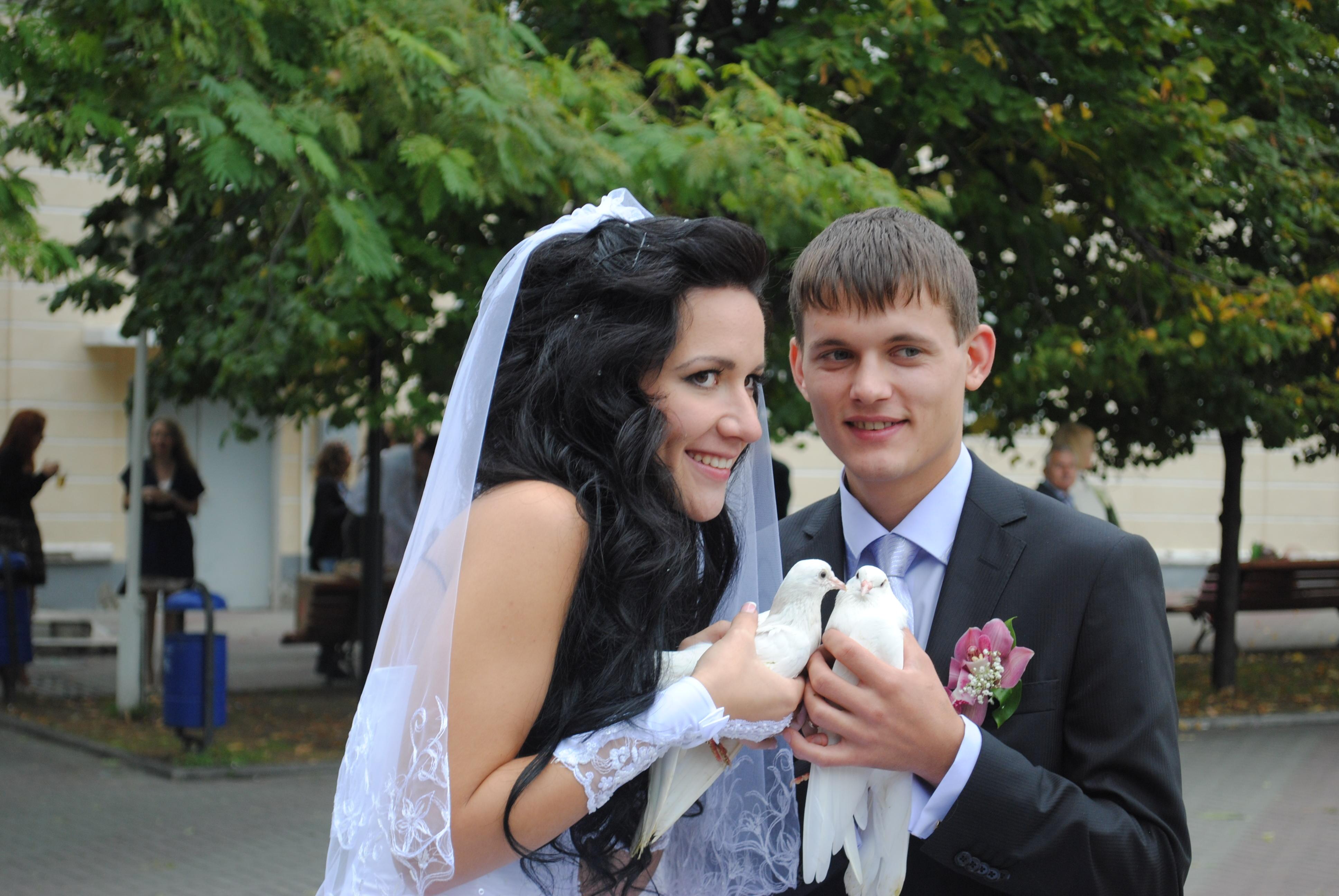 ГОЛУБКИ С ГОЛУБКАМИ. Лучшее свадебное фото