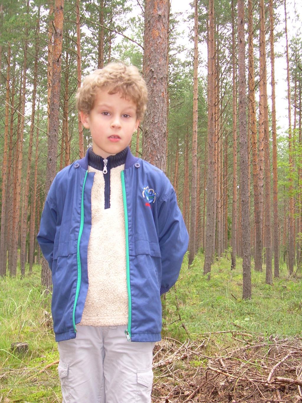 В лесу. Детские портреты