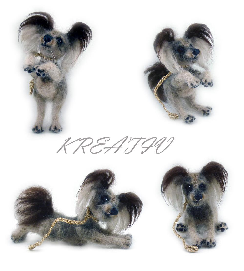 Собачка неопределенной породы :-). Вязаные игрушки