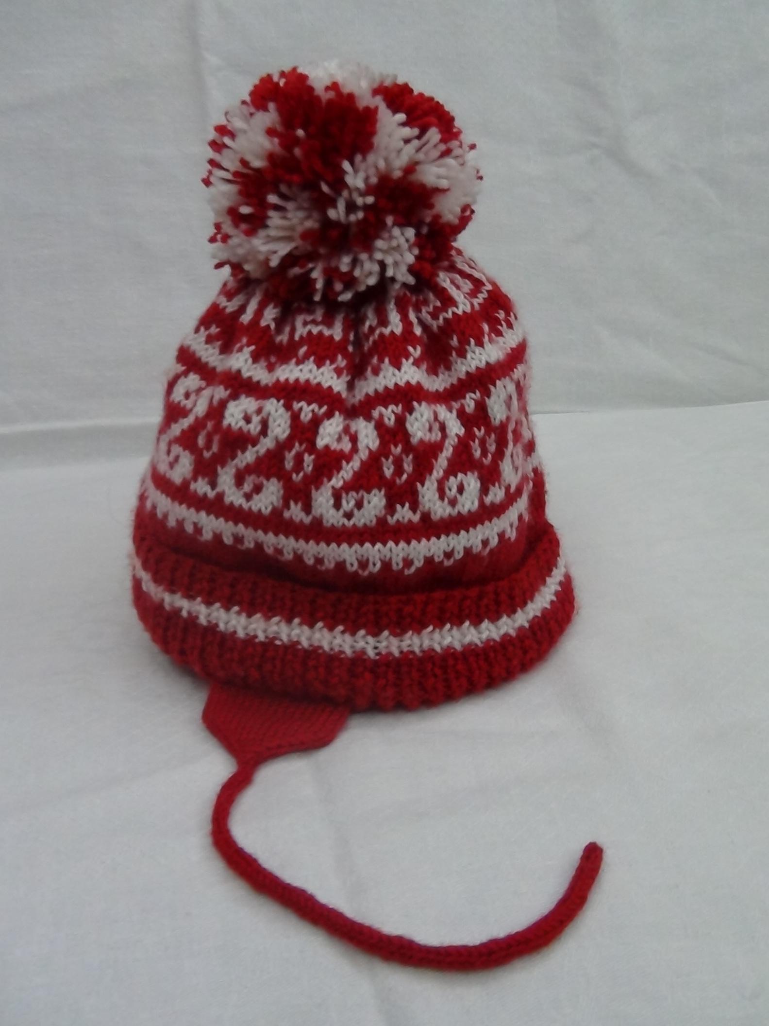 Двухслойная шапка. Шапки, шляпки, панамки и др.  вязаные головные уборы