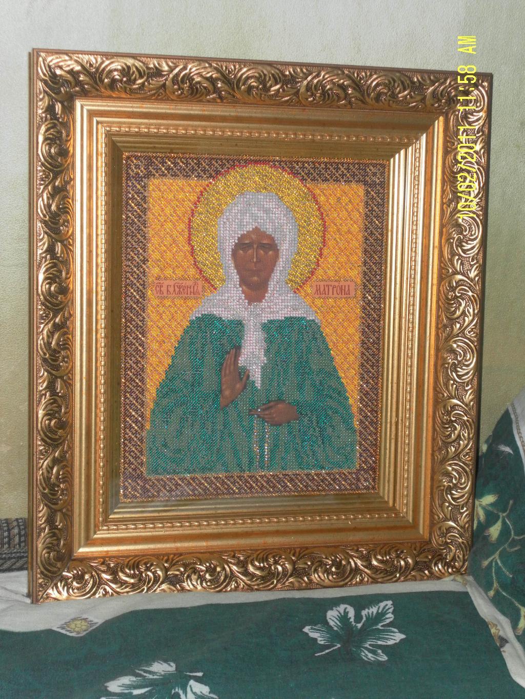 Икона ' Святая Матрона'. Оформленные