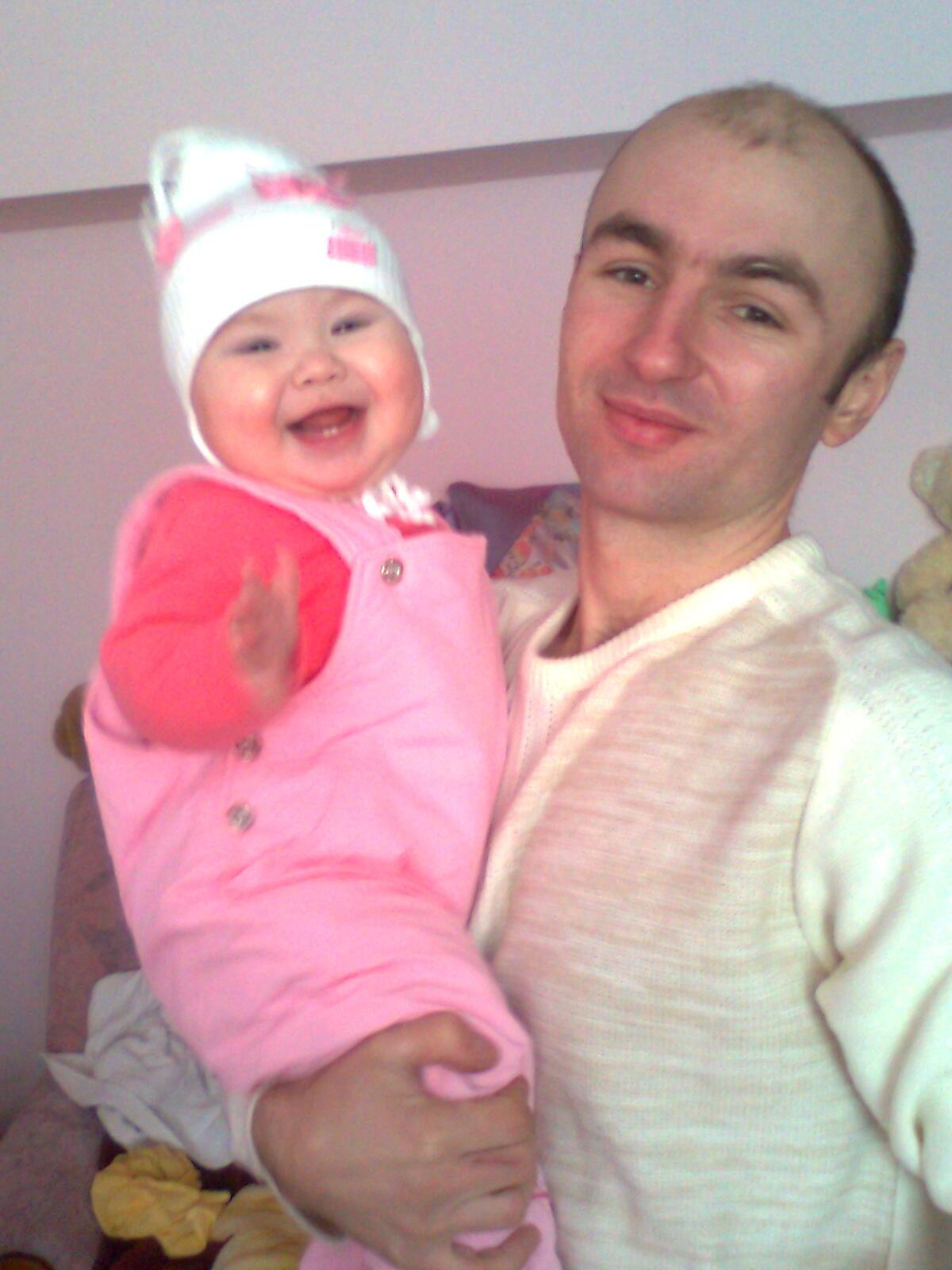 Тато та донечка Вікуся!!!. Вместе с папой