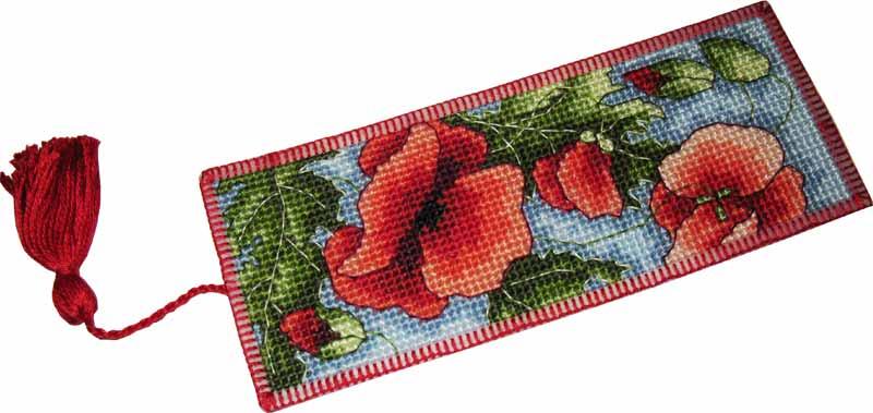 Закладка 'Маки'. Игольницы, брелки, подстаканники, закладки и др. сувениры