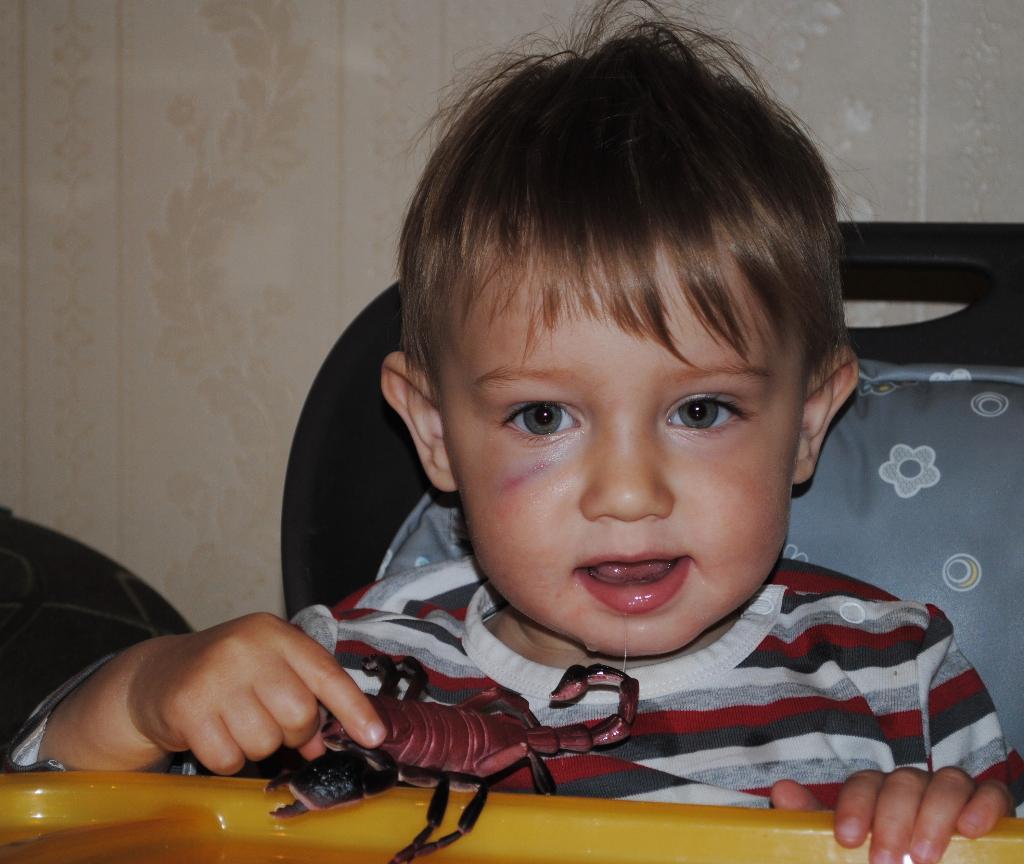 Ярославчик - истинный скорпиончик! (1,5). Привет, малыш! Под каким знаком ты родился?