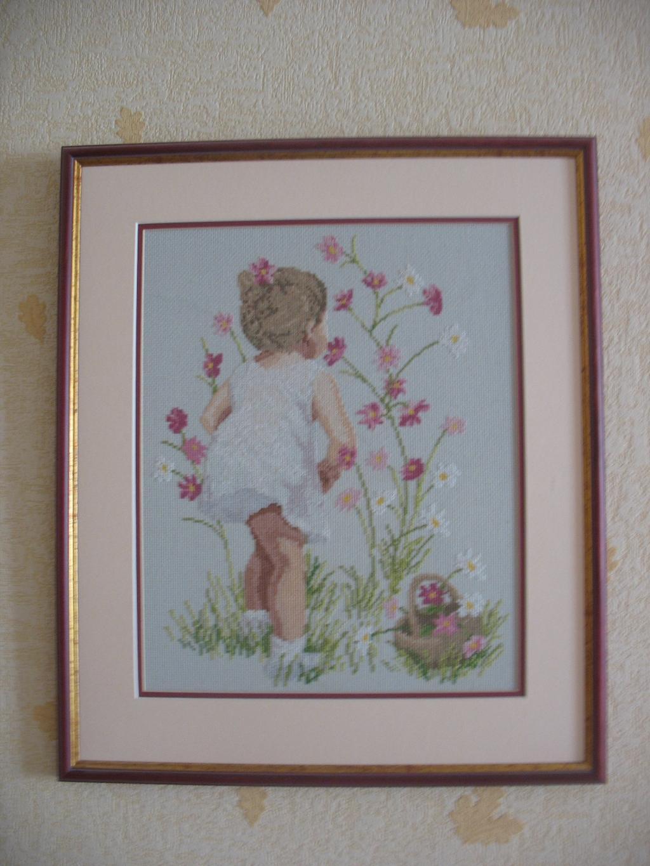 Девочка с космеями. Изображения детей