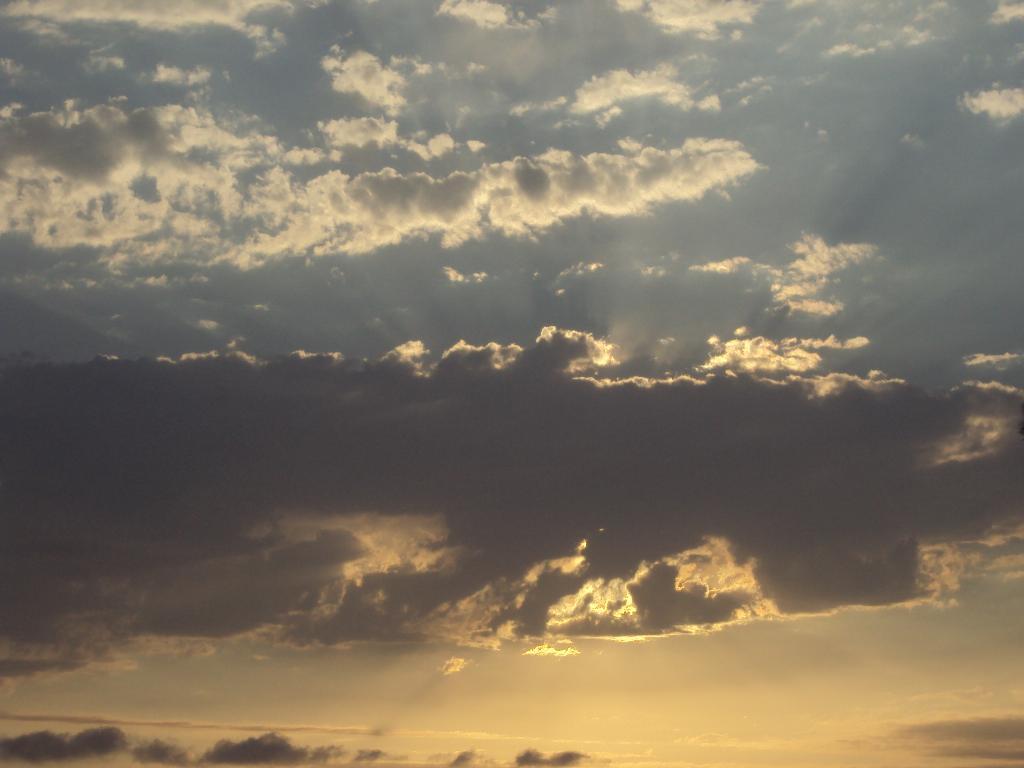 закат. Блиц: небо