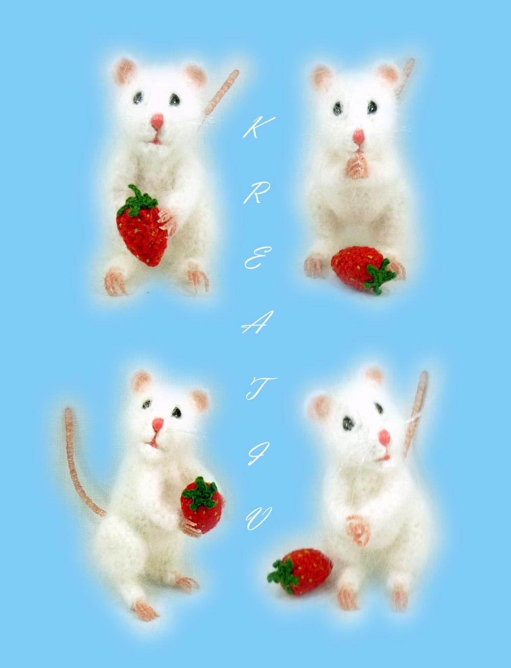 Мышка.. Вязаные игрушки