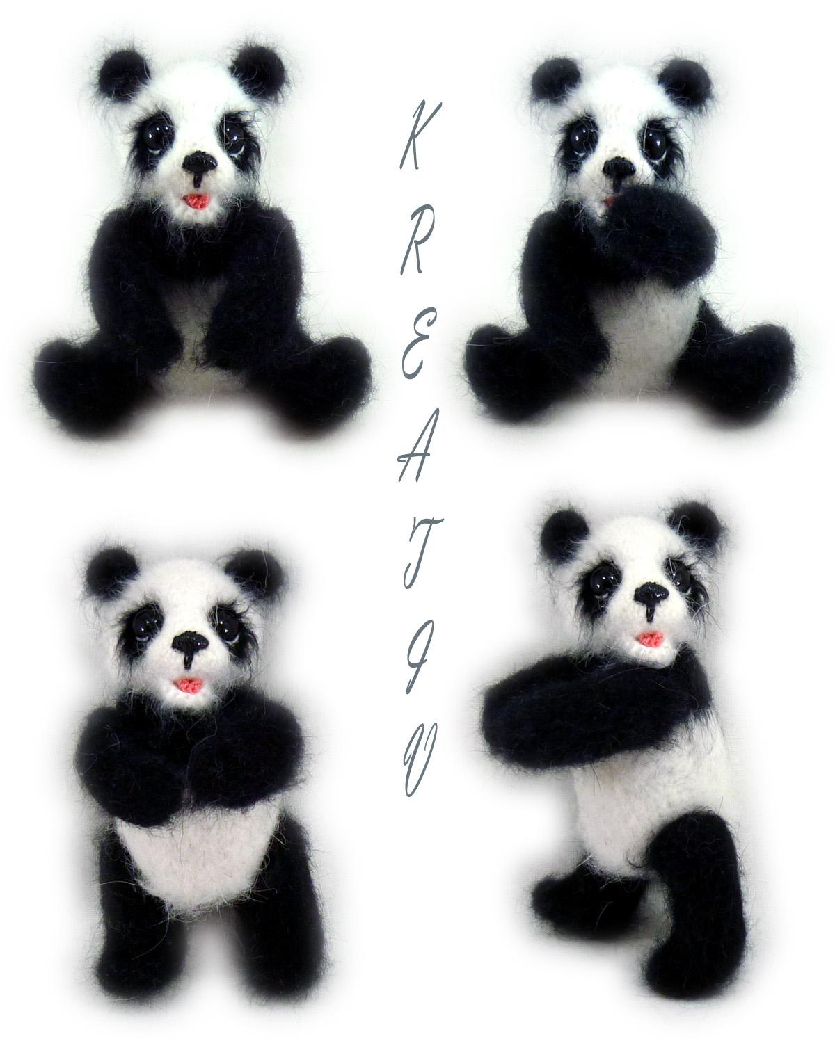 Панда.. Вязаные игрушки