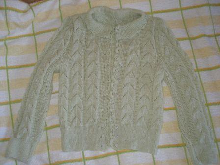 Кофточка из мериносовой шерсти с шелком. Одежда