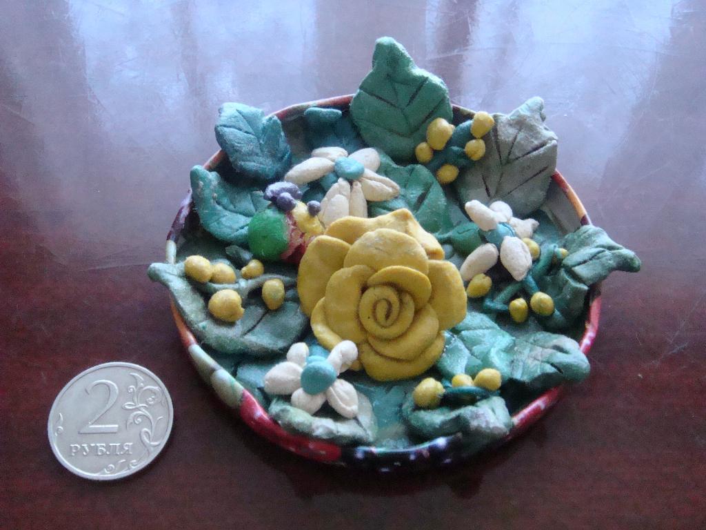 Букет цветов. Секреты пластилина