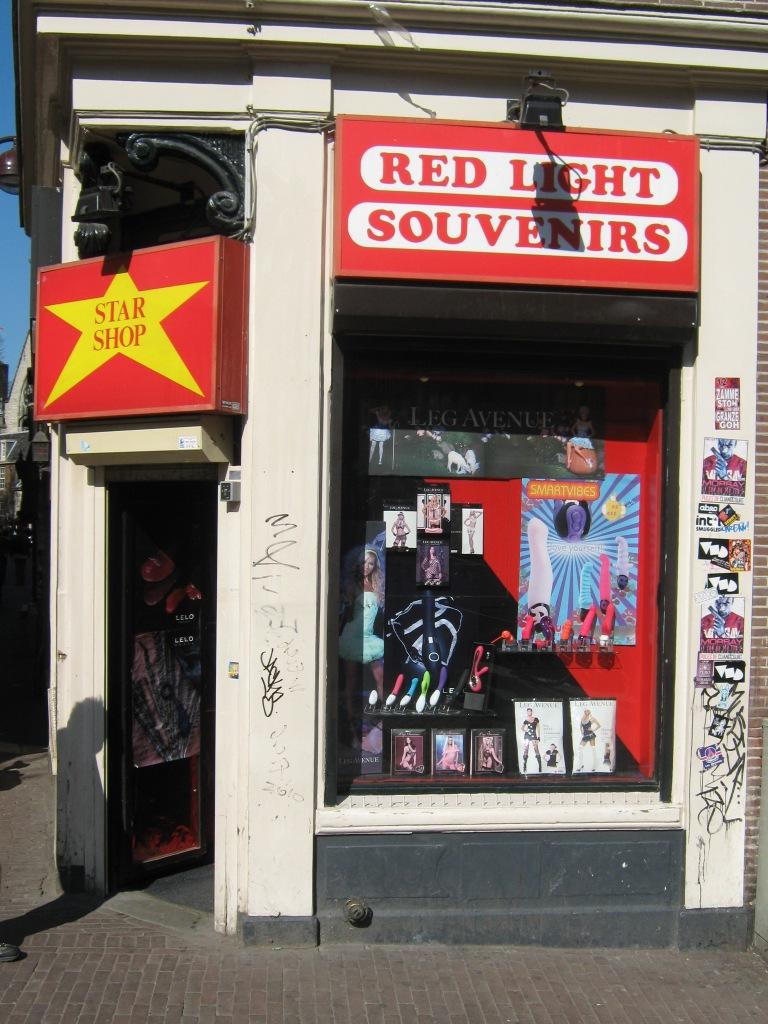 Amsterdam red light district. Блиц: витрины
