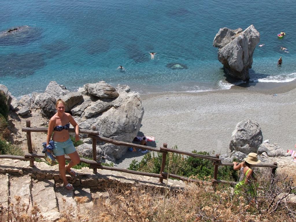 Крит, пляж Превелли (Палм бич). Блиц: камни