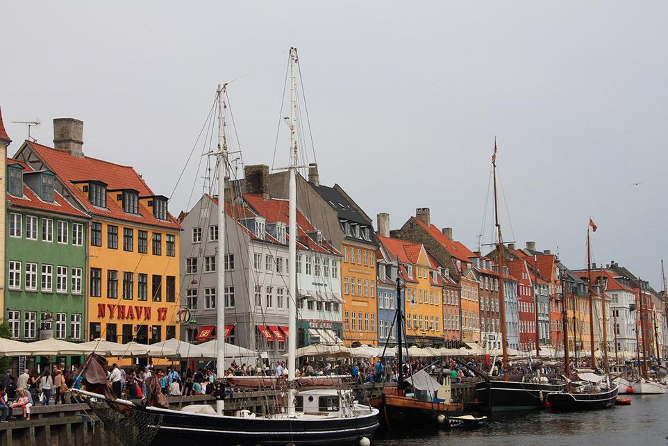 Nyhavn, Копенгаген. Городские пейзажи