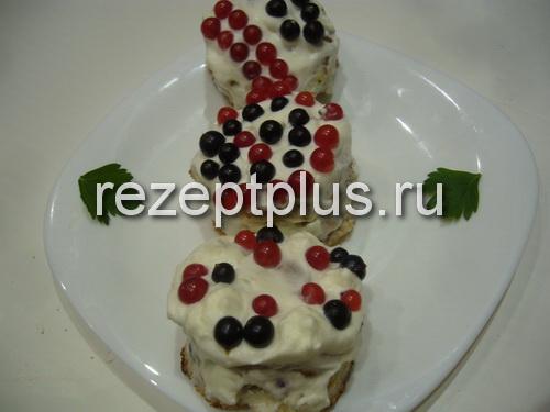 бисквитные пирожные. Кулинария: торты и пирожные