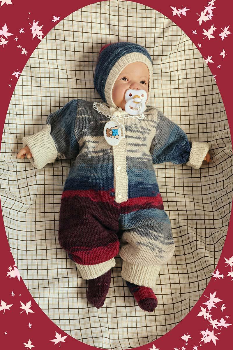Вязаный костюм для новорожденных Батик.. Одежда для детей