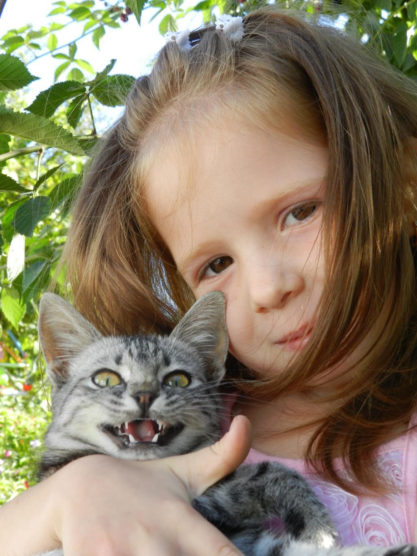 Дашуля и Маська. Кошки и дети