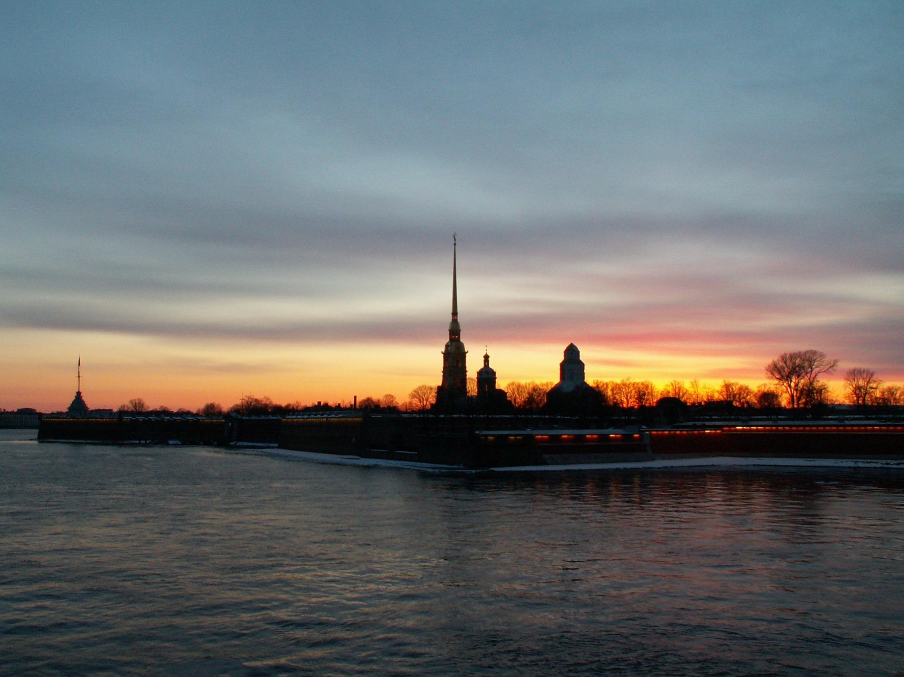 Закат на Неве. Блиц: рассветы и закаты