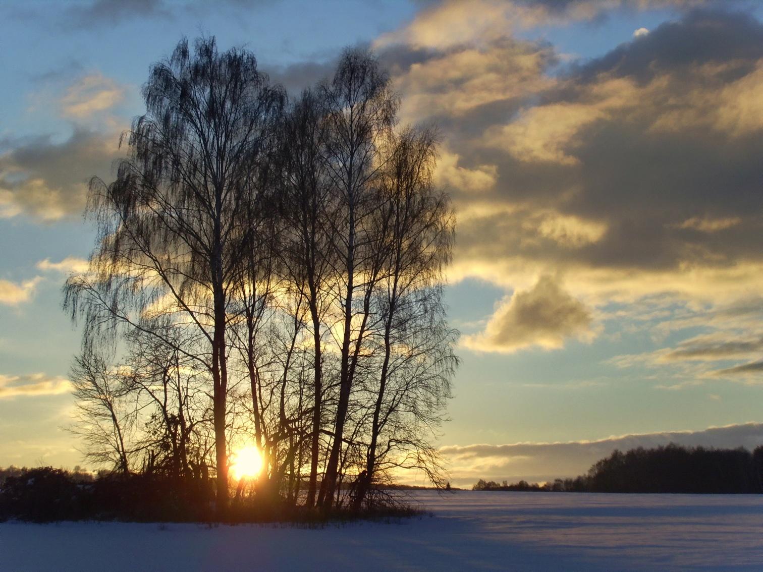 воспоминание о зиме. Блиц: рассветы и закаты