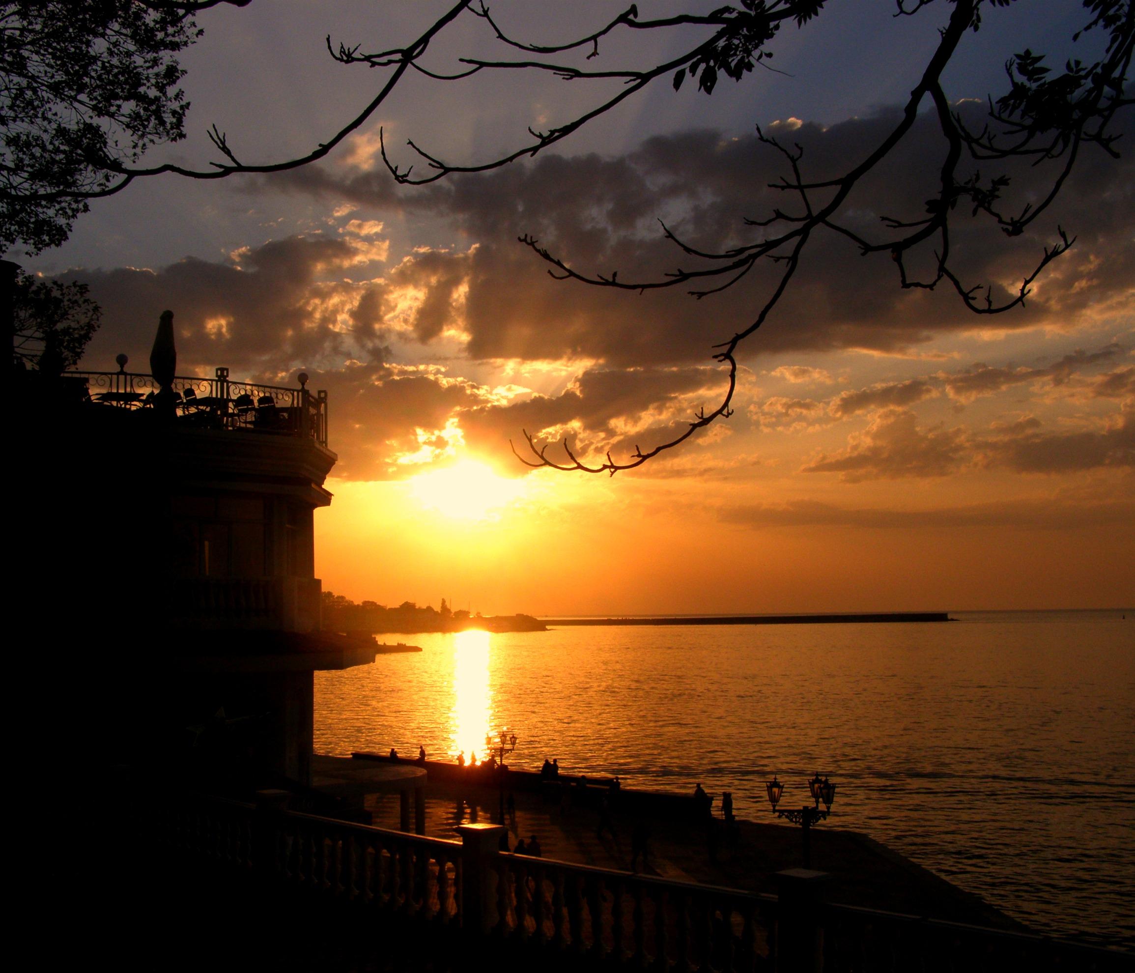 закат над черным морем.... Блиц: рассветы и закаты