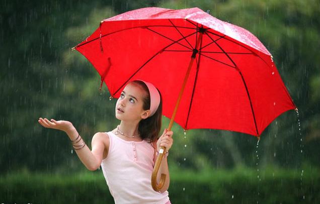 Под  дождем. Фотоколлажи, обработанные фото