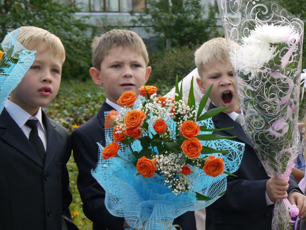 Букет для мальчика на первое сентября, букеты цветов фото