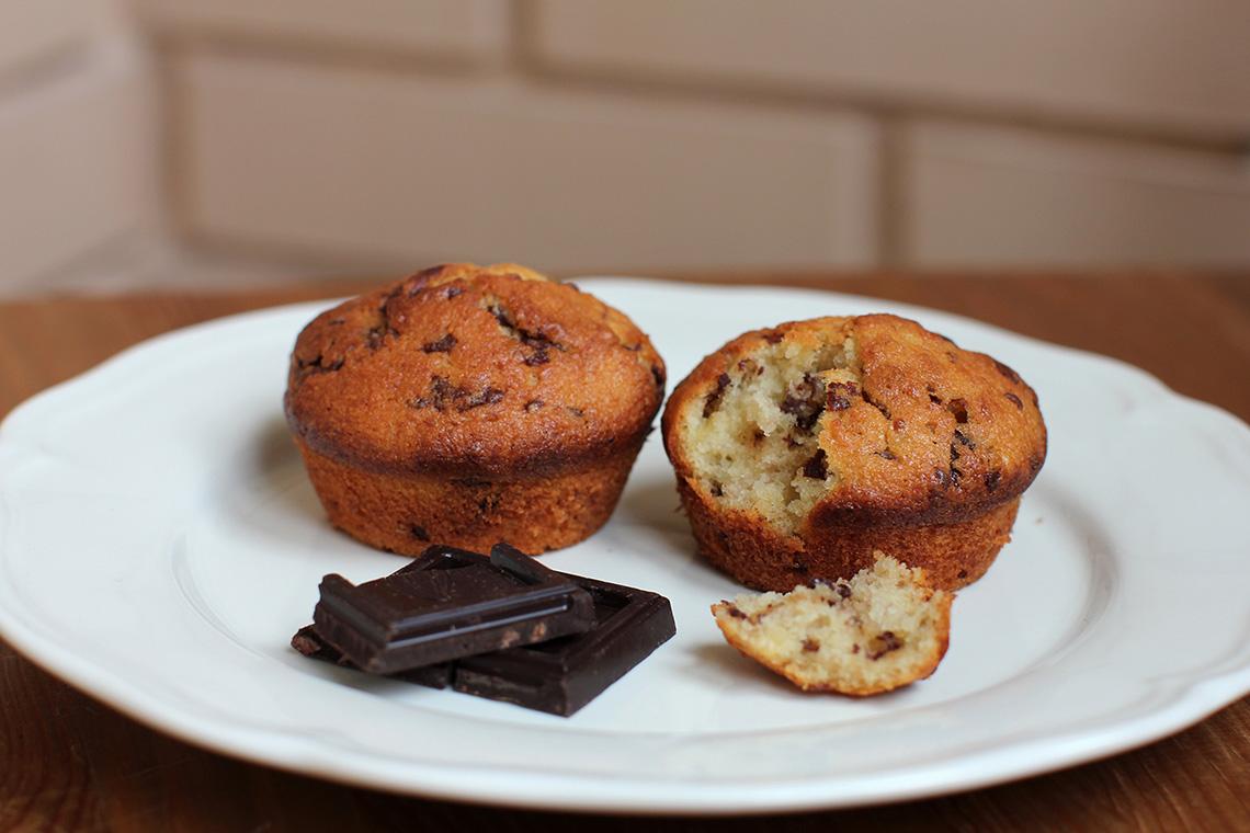 Банановые кексы с шоколадом. Кулинария: торты и пирожные