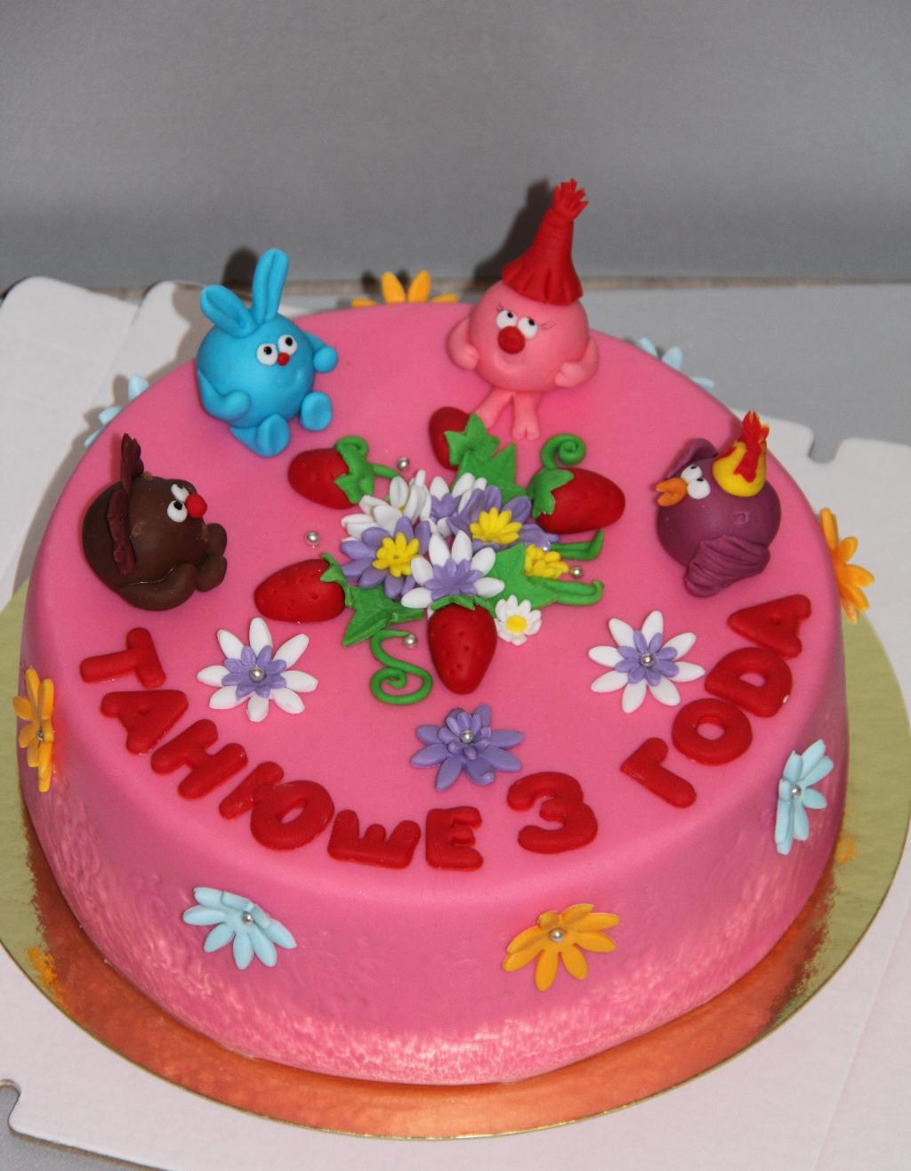 Торт со смешариками фото хрупкая