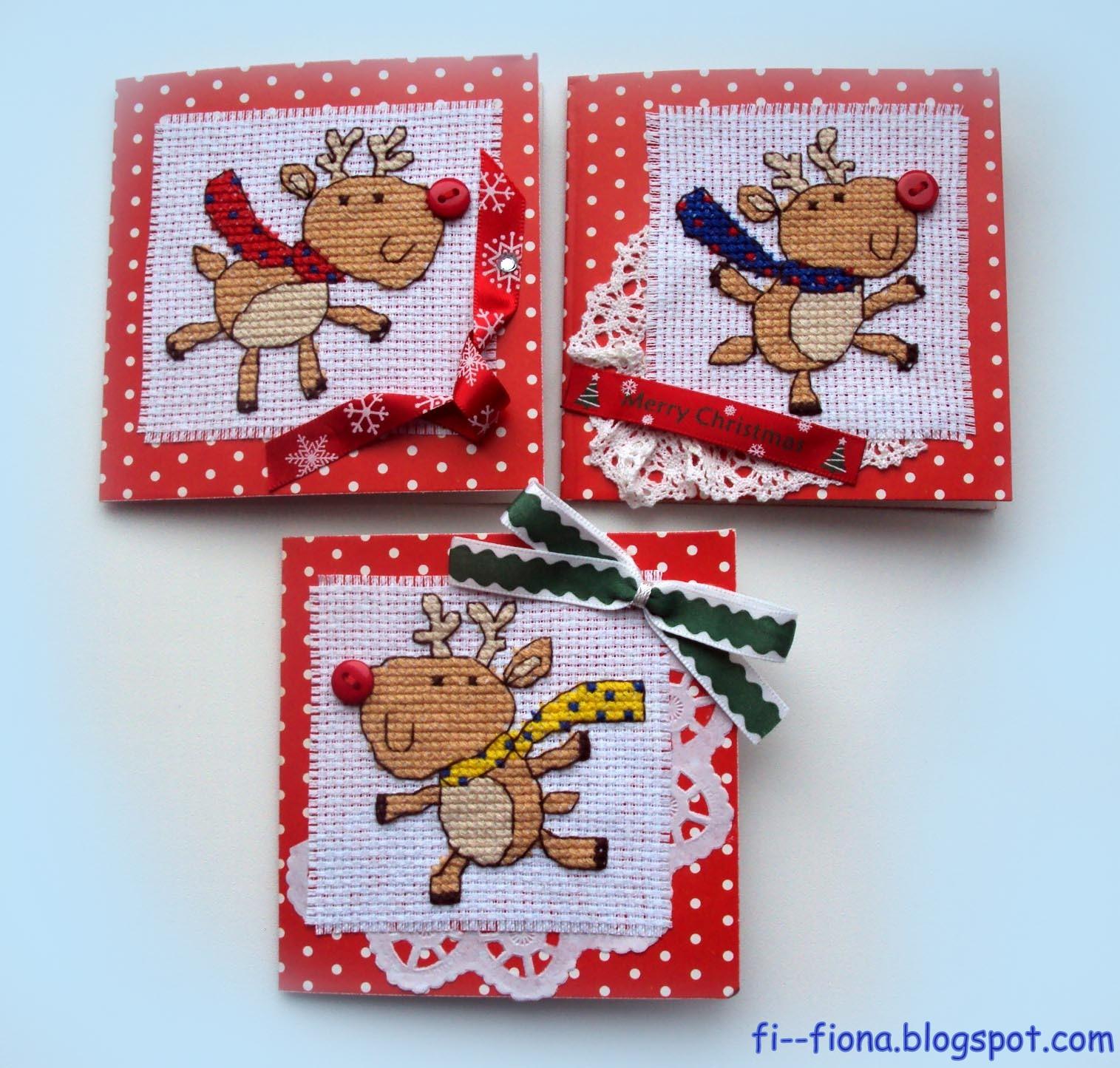 Днем рождения, открытки с вышивкой своими руками новогодние