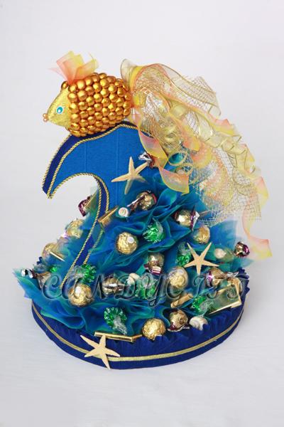 'Золотая рыбка'. Букеты из конфет