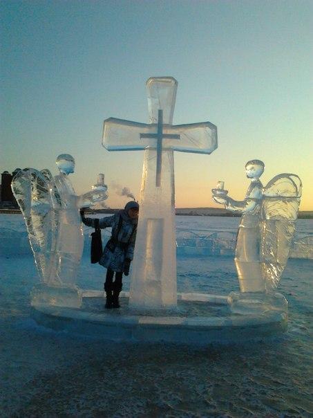 Крещение.. Блиц: фигуры из снега и льда