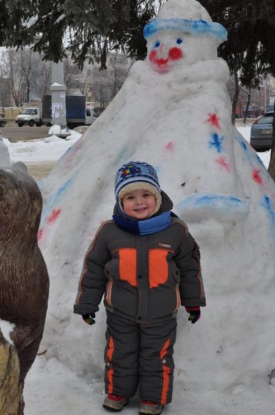 Мавей и снеговик. Блиц: фигуры из снега и льда