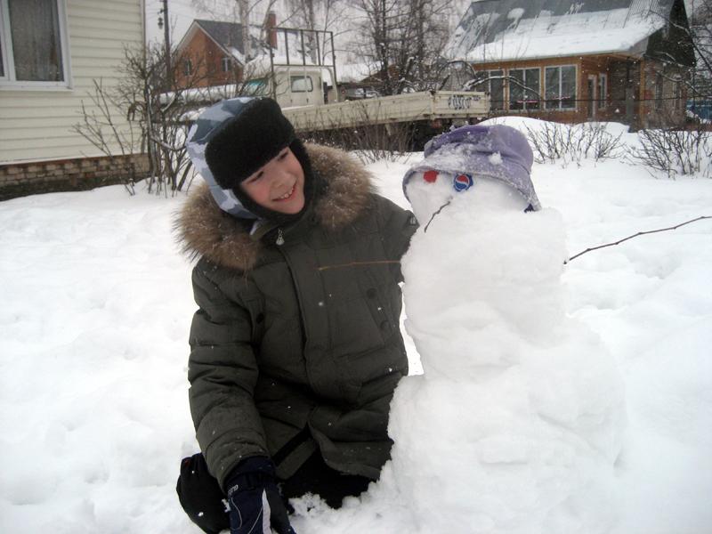 Снежный друг. Блиц: фигуры из снега и льда