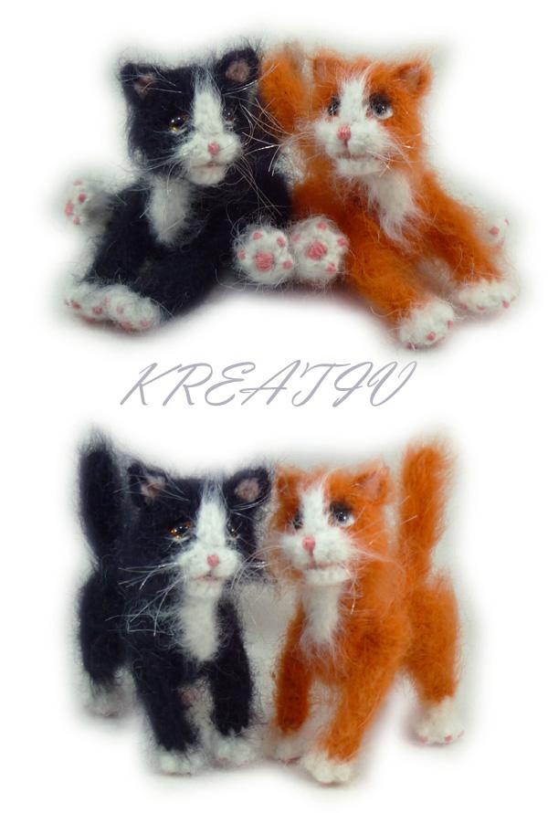Котики.. Вязаные игрушки