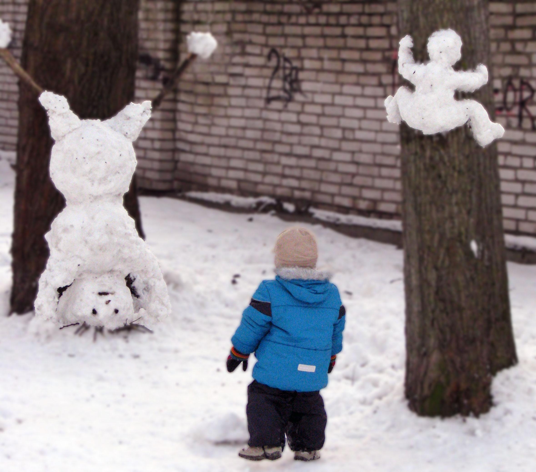 Сумасшедшие снеговики. Блиц: фигуры из снега и льда