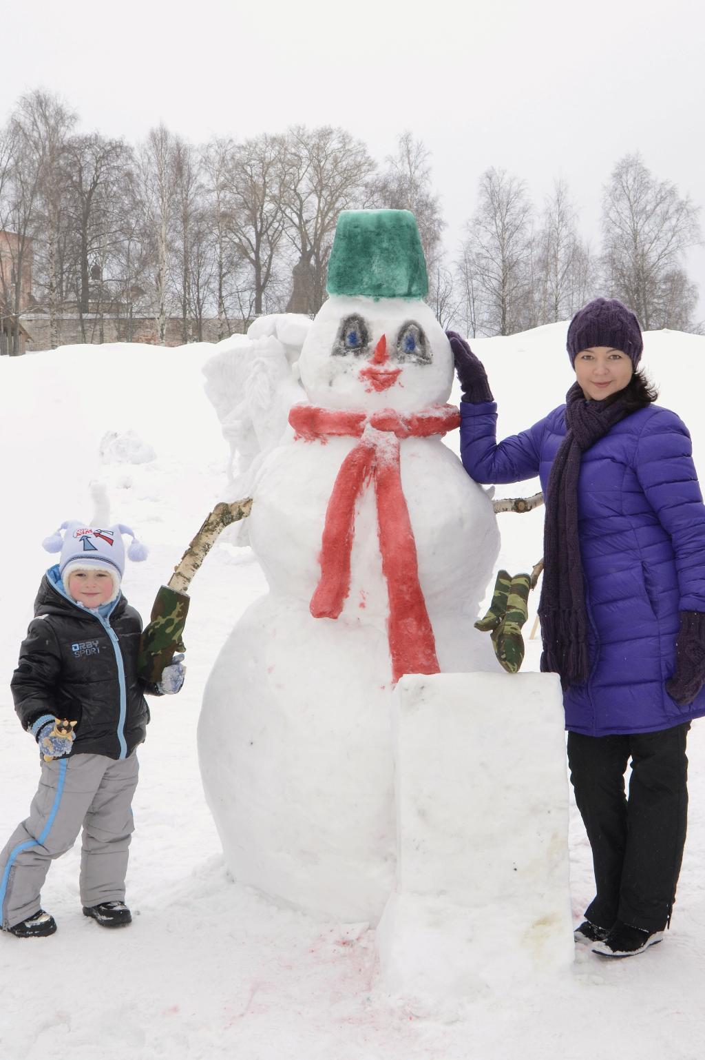 Чудо-снеговик!!!. Блиц: фигуры из снега и льда
