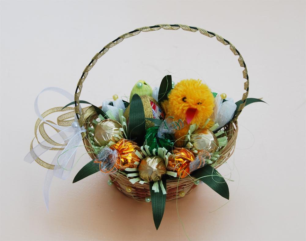 Купить цветы, букет из конфет к пасхе своими руками мастер класс