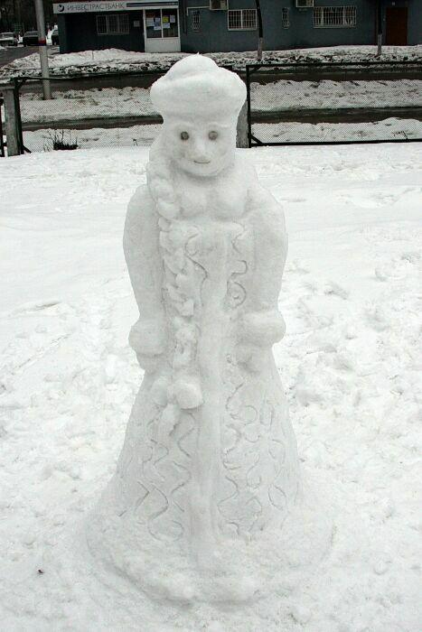 ЛЕДЯНАЯ ВНУЧКА. Блиц: фигуры из снега и льда