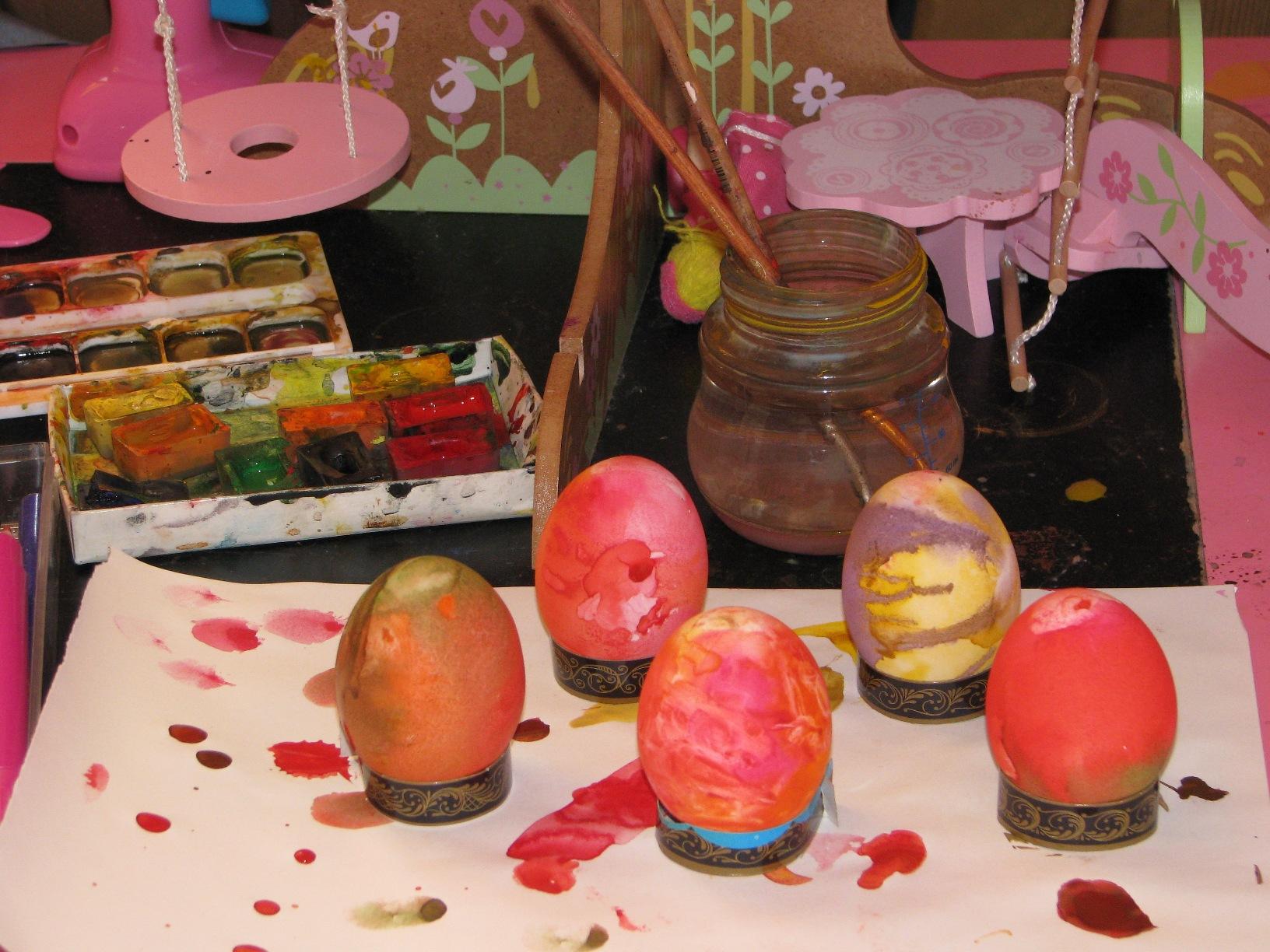 Пасхальные яйца .