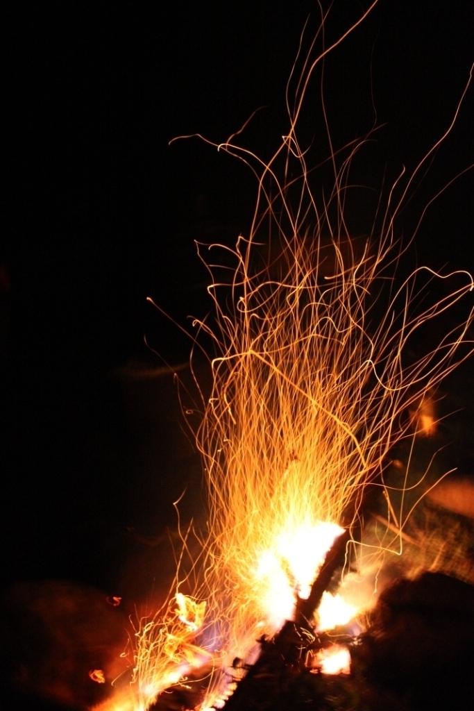 Искры в ночи. Блиц: огонь
