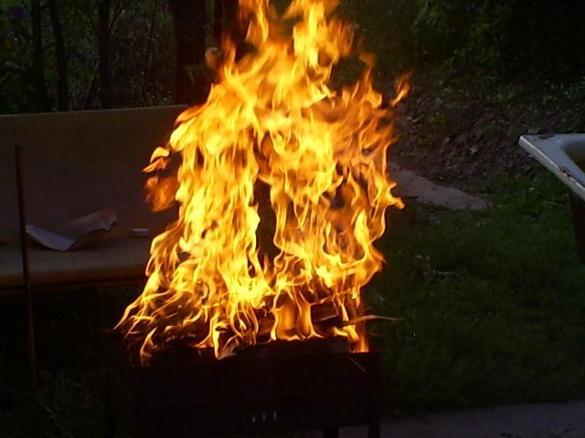 Пламя костра!!!. Блиц: огонь