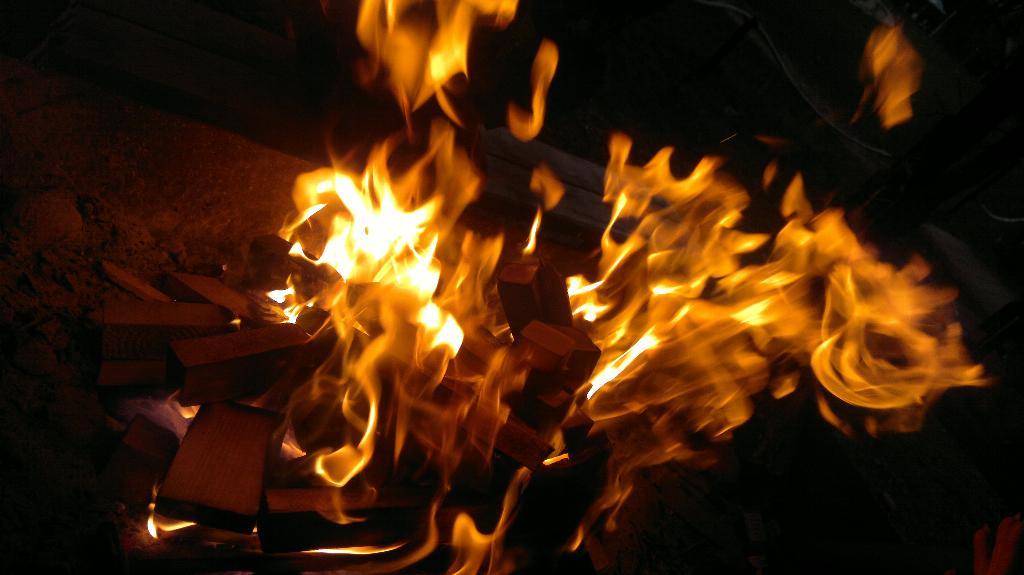'Иллюзия огня'. Блиц: огонь