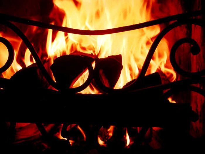 Пламя в камине. Блиц: огонь