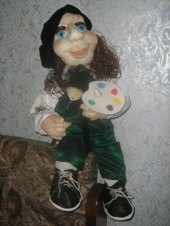Кукла художник. Самодельные игрушки