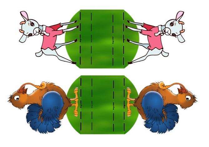 работы картинки двусторонние для кукольного театра добавят