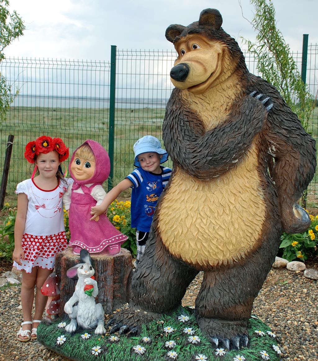 В гостях у Маши и Медведя. Я люблю мультфильмы!