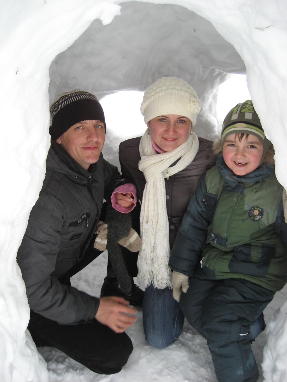 доступное жилье для молодой семьи. В гостях у снеговиков